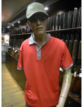 Polo Beretta rouge et gris